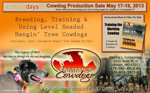 RWA March2013 Tammy's Cowdogs Half Page 2013 Ad